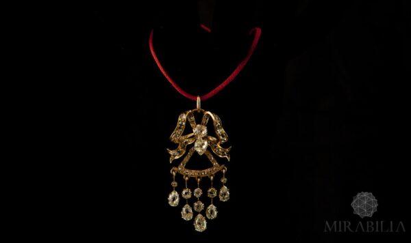 Mirabilia - Ciondolo Fiocco Diamanti