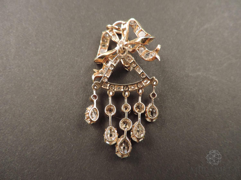Ciondolo a Fiocco diamanti 3