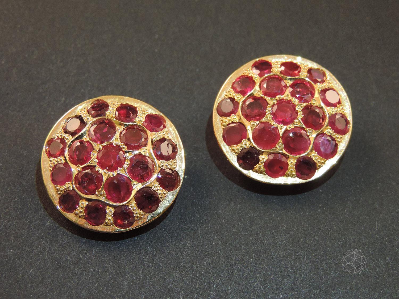 Orecchini clip rubini birmani 2