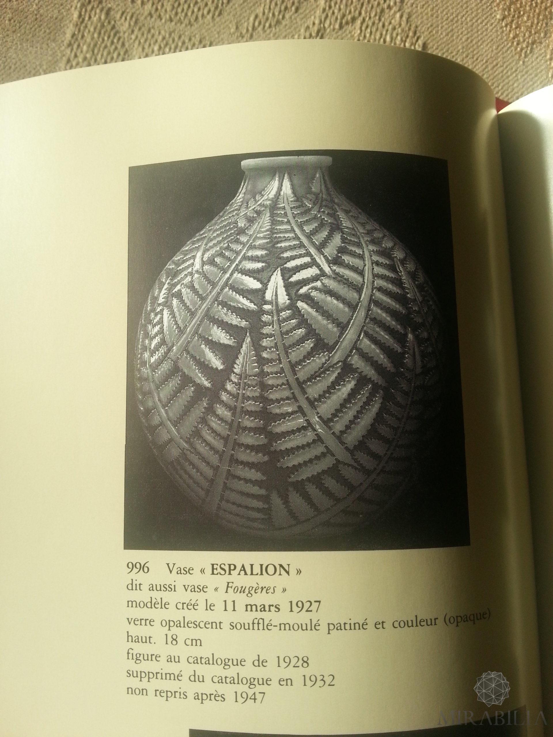 """Vaso a forma sferica """"Espalion"""", chiamato anche """"fougères"""""""