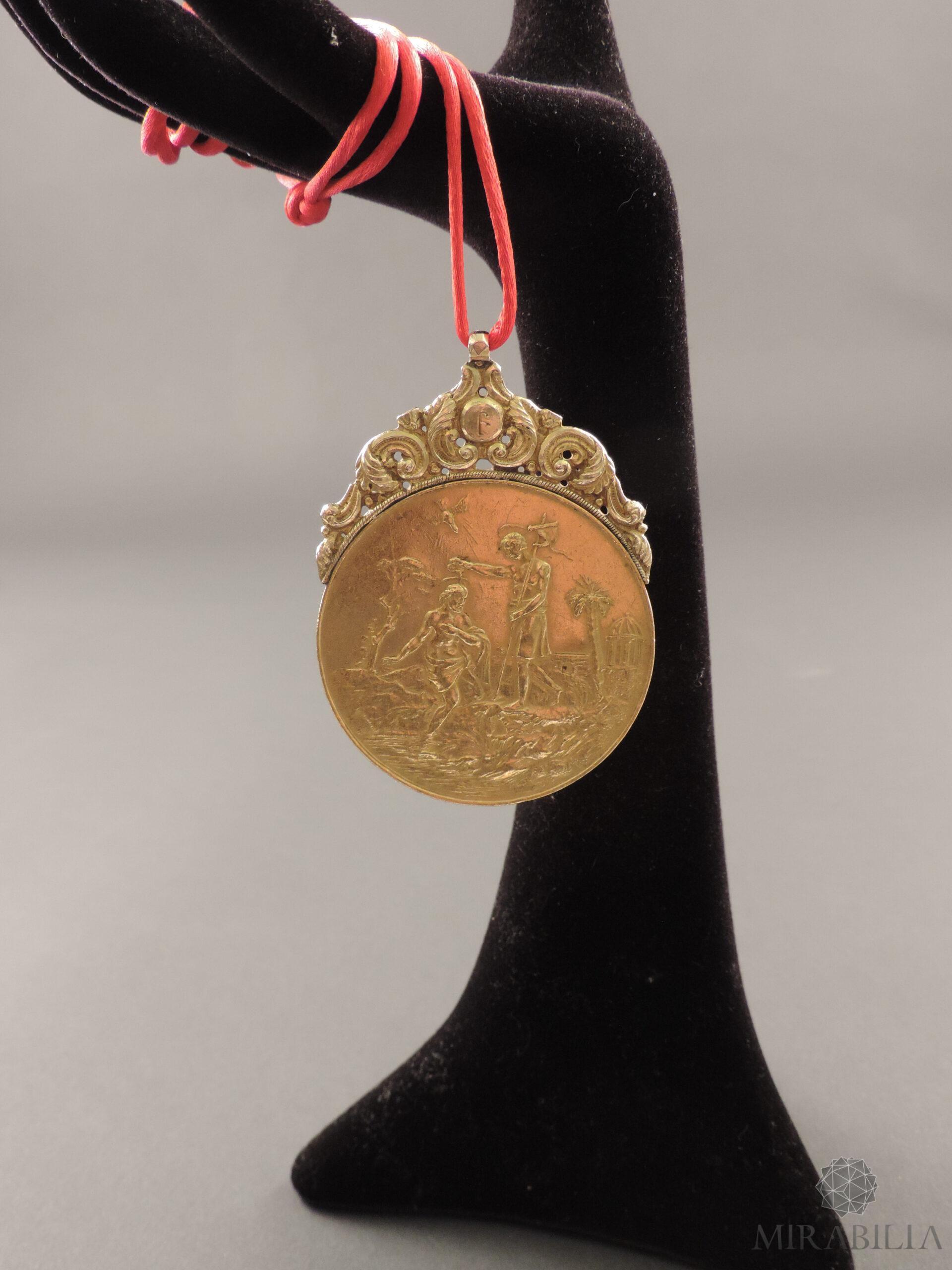 Medaglia russa in oro con tema religioso, seconda metà '700 (fronte 2)