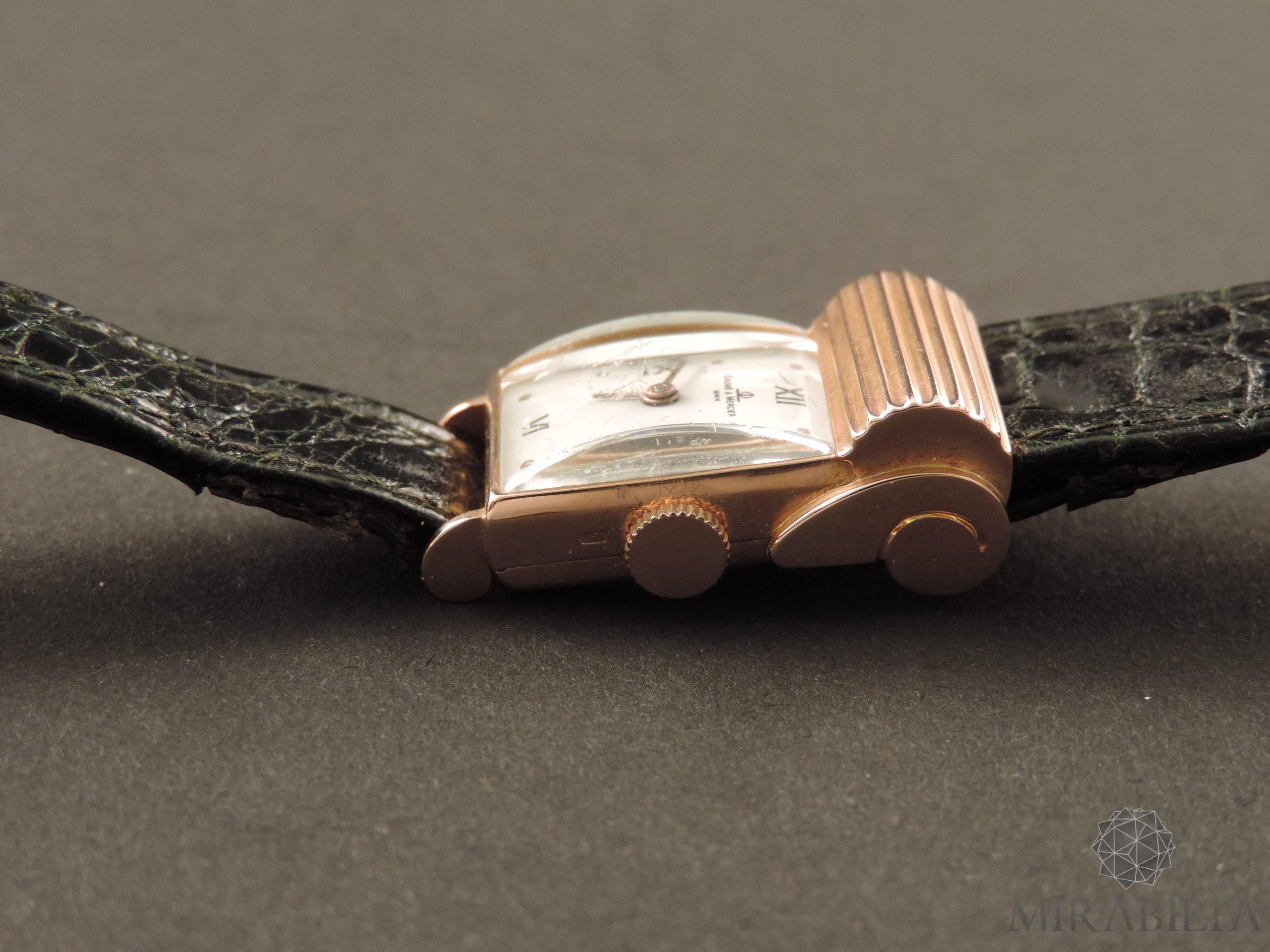 Orologio Baume & Mercier oro Art Déco (dettaglio lato)