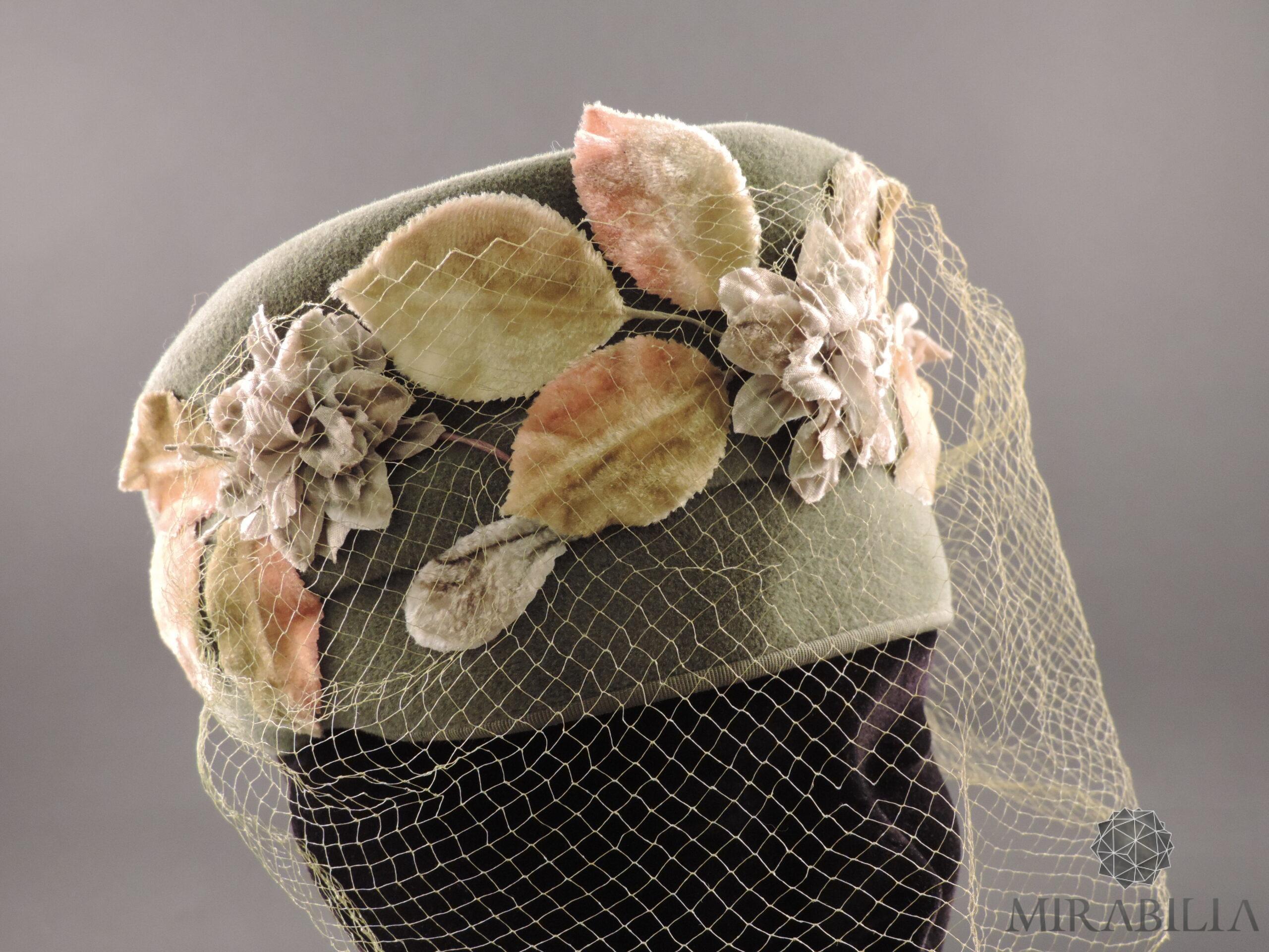 Cappellino con veletta Stetson, anni '30 (dettaglio veletta frontale )