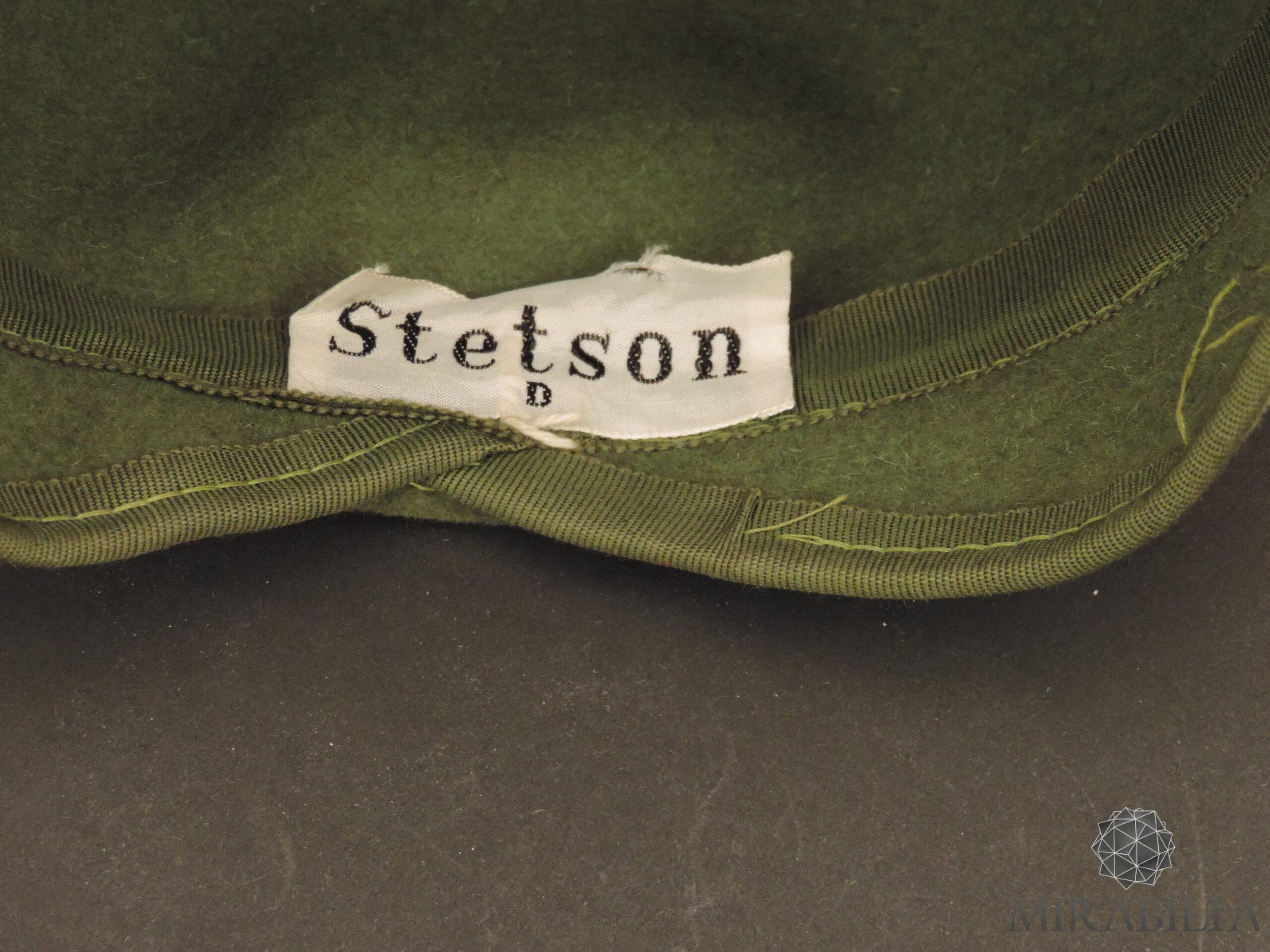 Cappellino con veletta Stetson, anni '30 (dettaglio etichetta Stetson D)