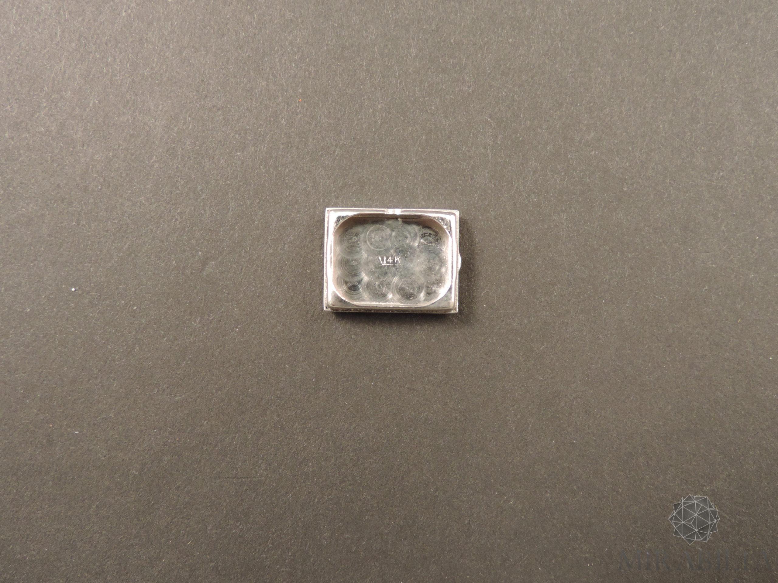 Orologio gioiello Lo Ros in oro bianco, rubini e diamanti Art Déco (Retro)